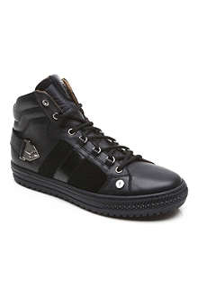 CESARE PACIOTTI Leather high top trainers 7-12 years