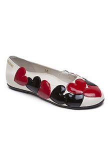 MOSCHINO Heart ballet pumps 7-11 years