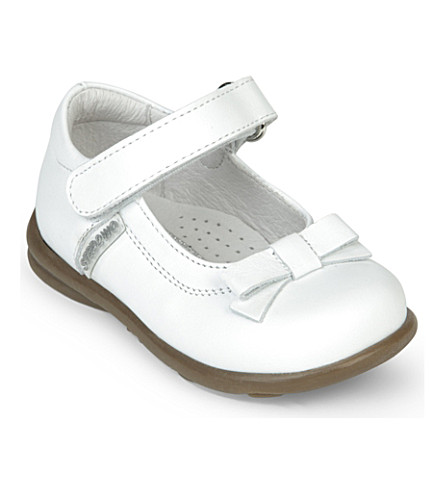 STEP2WO Rose leather shoes 6 months - 7 years (White+leather