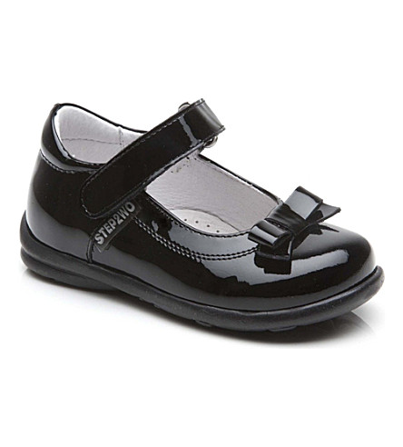 STEP2WO Rose leather shoes 1-7 years (Black+patent