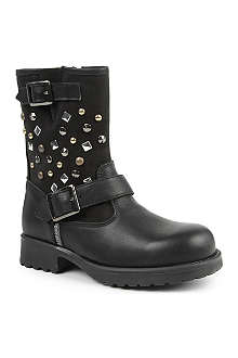 STEP2WO Adilyn studded leather boots 7-11 years