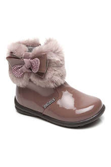 STEP2WO Faux-fur embellished boots 6 months-4 years