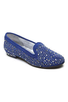 STEP2WO Spangle suede ballet pumps 7-10 years