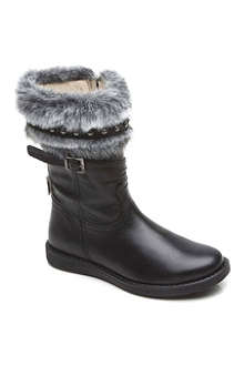 STEP2WO Karma faux-fur leather boots 6-9 years
