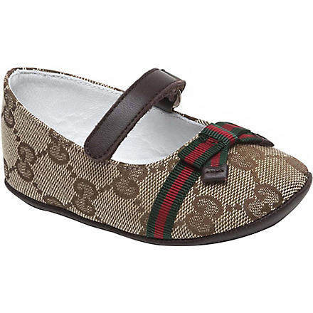 GUCCI Ballerina shoes 6-9 months (Brown