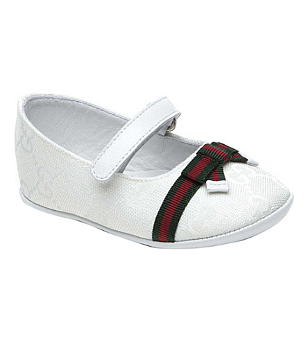 GUCCI Ballerina shoes 6-9 months (White