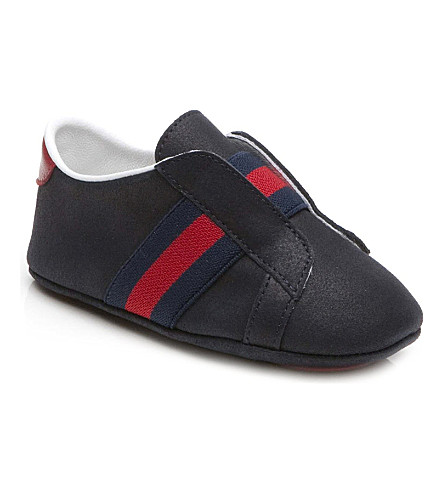 GUCCI Leather booties 6 months-1 year (Navy
