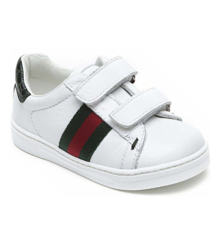 GUCCI Leather girls trainers 12 months-3 years (White