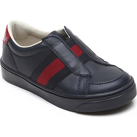 GUCCI Leather trainers 18 months-3 years (Navy