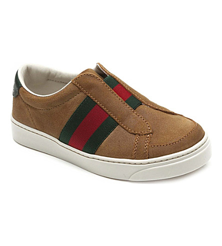 GUCCI Leather trainers 4-9 years (Tan