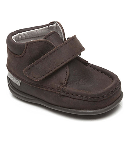 STEP2WO Fion2 leather boots 6-36 months (Brown+nubuck