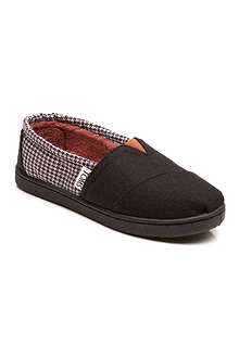 TOMS Houndstooth canvas shoes 5-11 years