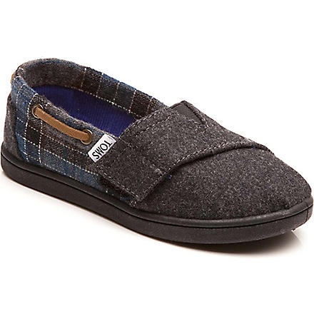 TOMS Tartan canvas shoes 4-11 years (Grey