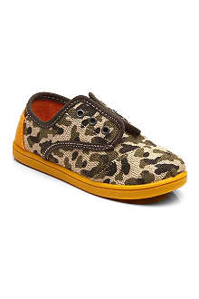 TOMS Camo canvas slip-on shoes 4-11 years