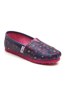 TOMS Glitter stars canvas shoes 6 months - 11 years