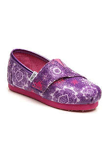 TOMS Floral flurry classic shoes 2-11 years