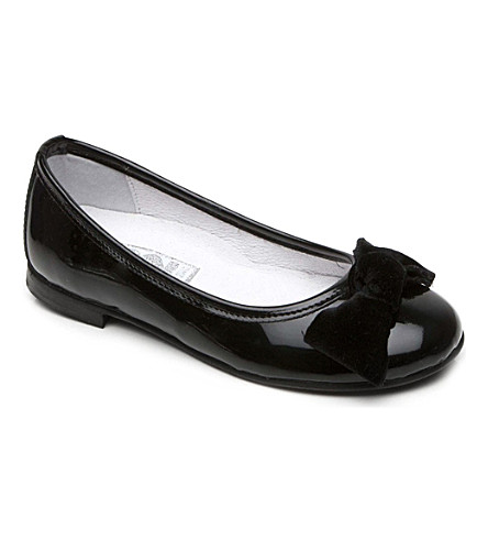 STEP2WO Ballet-bow Leather Pumps 6-11 Years (Black+patent