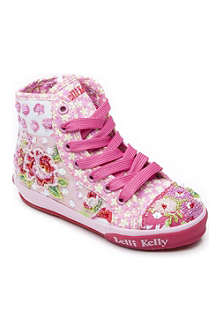 LELLI KELLY Sequin-embellished high-top trainers 1-10 years