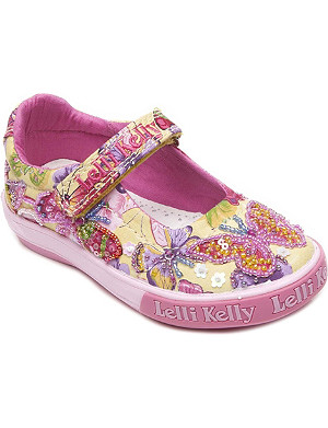 LELLI KELLY Embellished canvas pumps 1-8 years
