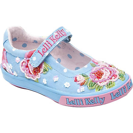 LELLI KELLY Embellished canvas pumps 9 months-10 years (Turquoise
