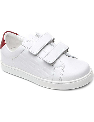 ARMANI JUNIOR Leather double-strap trainers 2-10 years