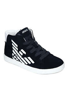 ARMANI JUNIOR Suede high-top trainers 7-12 years