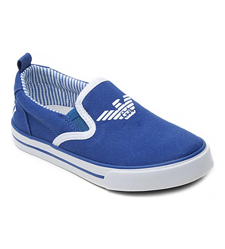 ARMANI JUNIOR Canvas trainers 3-9 years (Blue