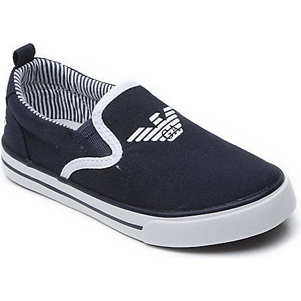 ARMANI JUNIOR Canvas trainers 3-9 years (Navy