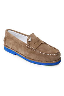 ARMANI JUNIOR Suede loafers 7-12 years