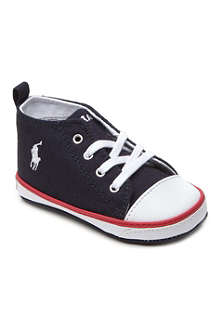 RALPH LAUREN Falmuth high-top trainers 6-9 months