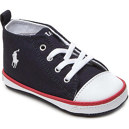 RALPH LAUREN Falmuth high-top trainers 6-9 months (Navy