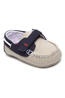 RALPH LAUREN Canvas boat shoes 6-9 months