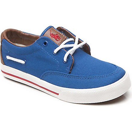RALPH LAUREN Vance canvas trainers 8-16 years (Blue