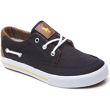 RALPH LAUREN Vance canvas trainers 8-16 years (Navy