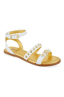 VERSACE Studded leather sandals 7-12 years