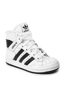 ADIDAS Leather high-top trainers 6-12 years