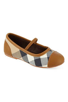 BURBERRY Check ballerina shoes