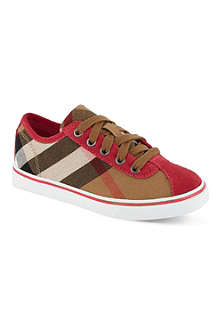 BURBERRY Check low-top trainers