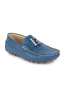 FENDI Branded leather loafers 8-11 years
