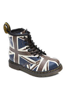 DR MARTENS Union Jack-print lace-up boots 3-8 years