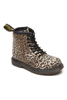 DR MARTENS Leopard print lace-up boots 3-9 years