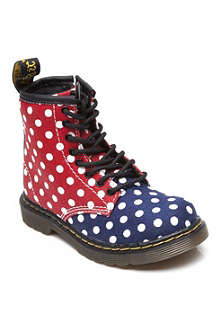 DR MARTENS Polka dot lace-up boots 3-8 years