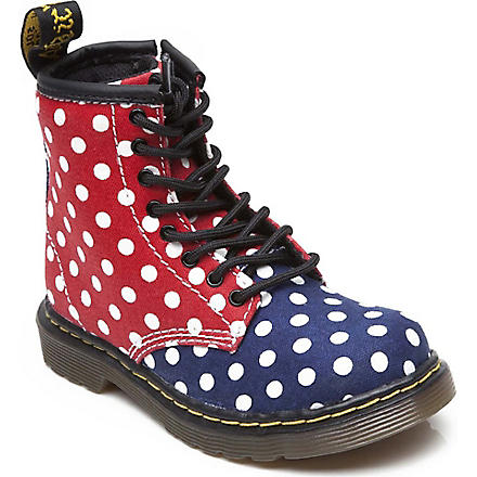 DR MARTENS Polka dot lace-up boots 3-8 years (Multi