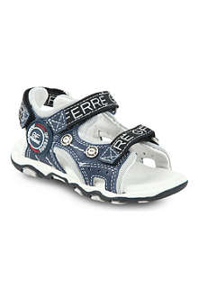 GF FERRE Double-strap leather sandals 2-11 years