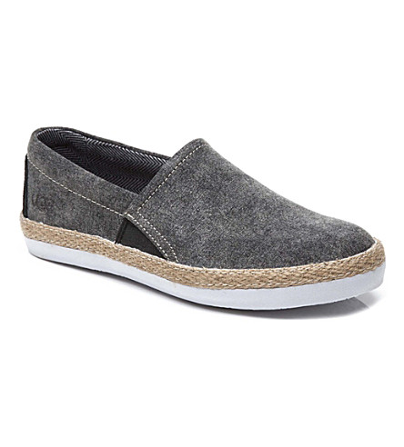 UGG Canvas slip-on shoes 7-11 years (Black