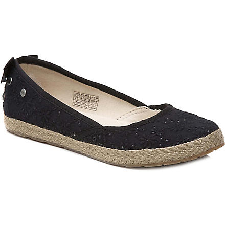 UGG Tassy Eyelet pumps 7-11 years (Black