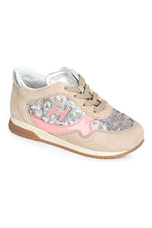 HOGAN Girls sequin trainers 2-5 years