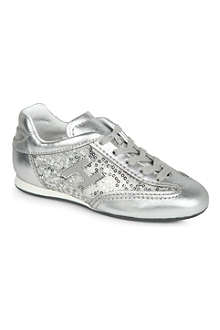 HOGAN Girls sequin trainers 6-9 years