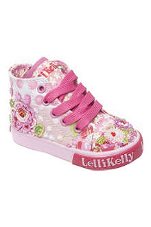 LELLI KELLY Bead and sequin embellished high-top trainers 6 months-4 years