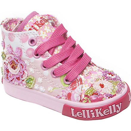 LELLI KELLY Bead and sequin embellished high-top trainers 6 months-4 years (Pink
